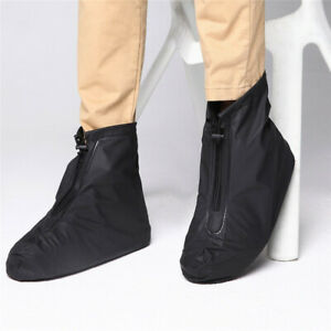 Reusable Durable PVC Rain Boot Shoe Covers Outdoor Anti-slip Overshoes Great