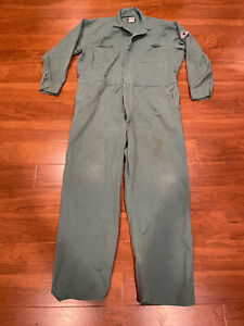 BULWARK Flame Resistant FR Coveralls SZ XL-Reg Green Fraying