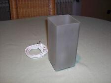 IKEA Grönö B0011 Quader Glas milchig eckig - Lampe Leuchte Tischlampe