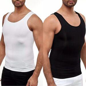 Herren Bauchweg Mieder Unterhemd Korsett Corset Abnehmen Body Shaper Muskelshirt