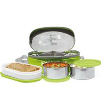 Milton Executive Lunch Box Soft Insulated Tiffin Box (2 SS Container,Green)