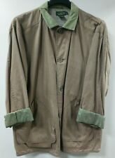 J. Crew Outfitter Tan Green Outdoors Sports Jacket Size Large Lot C