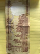 Indian Old Currency 500 Rupees Bank Note 5,00,000 Most Lucky Gandhi Money