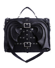 Restyle Gothic Bat Wings Satchel Handbag, Black