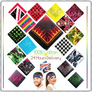 24 Hours Delivery Bandanna Headwear/Hair Band Scarf Neck Wrist Wrap Band Head