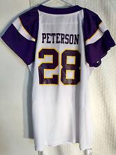 Reebok Women's NFL Jersey Vikings Adrian Peterson White Flirt sz L