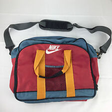 vtg Nike 1994 Mead Blue Red Gym School Duffle Travel Messenger Shoulder Bag