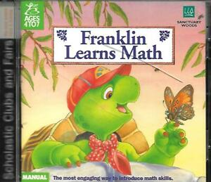 FRANKLIN LEARNS MATH AGES 4 TO 7 1996 CD-ROM WINDOWS 95/ 3.1