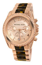 *SALE* NEW MICHAEL KORS LADIES WATCH MK5859 BLAIR TORTOISE ROSE GOLD CHRONOGRAPH