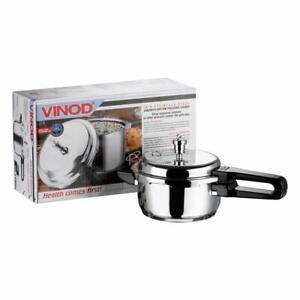 VINOD 18/8 Stainless steel Sandwich Bottom Pressure Cooker Regular 2/3/5/7/8/10L
