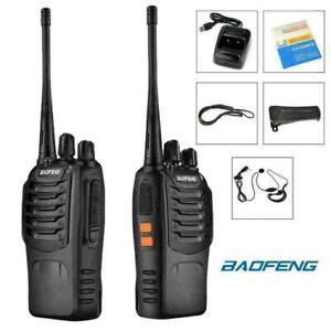 2X Baofeng BF-888S Radio Long Range Walkie Talkie 2-Way 16CH UHF 400-470MHZ