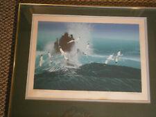 """Ken Auster serigraph """"Ocean Rythms"""", signed, numbered and framed. Rare!"""