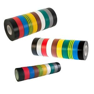 PVC Electrical Insulation Tape Flame Retardent All Colours / Sizes / Quantities