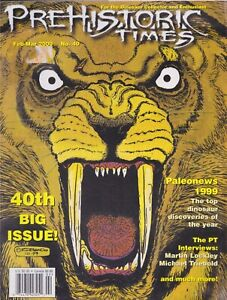 RARE #40 Issue Prehistoric Times dinosaur magazine PT OOP, Not sold anymore.