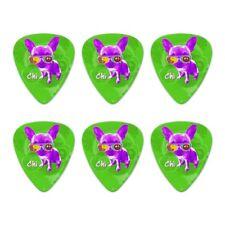 Chi Chihuahua Dog Sunglasses Retro Novelty Guitar Picks Medium - Set of 6