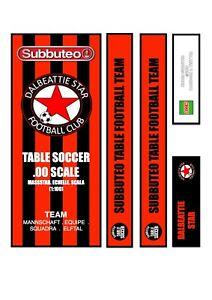 Subbuteo Table Football Team Box Label Dalbeattie Star (SCO) 2020