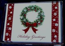 Trimming Traditions 18ct Christmas Cards with Envelopes - Holiday Wreath - New