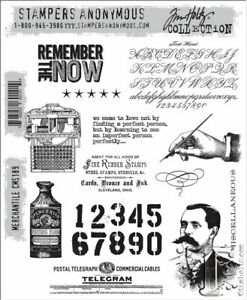 New Stampers Anonymous Tim Holtz Mounted Rubber Stamps Merchantile CMS189
