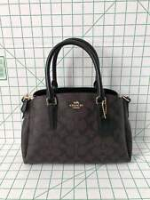 Coach F29434 Signature Mini Sage Carryall Satchel Crossbody Bag Brown black