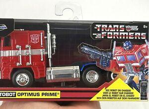 JADA Die Cast Transformers OPTIMUS PRIME Autobot 1:24 Hollywood Rides Hasbro NEW