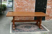 English Oak Farm Dining Table   Dining Room Furniture