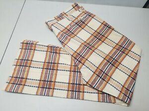 Vtg 60 70s Farah Mens Red Plaid BELL BOTTOM Flare Leg Disco Pants 36 See measure