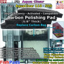 For AquaClear 110,500 Filter A620,A622,623,624,621,1374 Hagen Generic CarbonPad