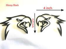 2X Glossy Black HELLHAWK TRACKHAWK GRAND CHEROKEE Racing Emblem Badges For Jeep