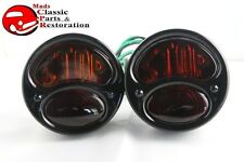 28-31 Model A Black Right Hand Tail Lamp Lights STOP Lens Custom Truck Hot Rod