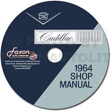 1964 Cadillac Shop Manual CD Deville Eldorado Series 62 Fleetwood Repair Service
