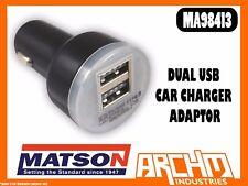 MATSON MA98413 - DUAL USB CAR CHARGER ADAPTOR - DIGITAL DEVICES