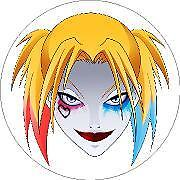 Suicide Squad Harley Quin Fan Art Head vinyl car laptop or window sticker decal