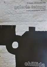 EDUARDO CHILLIDA SIGNED POSTER Gallery Lelong Offset Lithograph