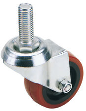 DRAPER 75mm Dia. Swivel Bolt Fixing Polyurethane Wheel - S.W.L. 70Kg | 65515