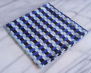 Silk Mens Pocket Square-Hand Rolled 100% Silk Striped Pocket Square