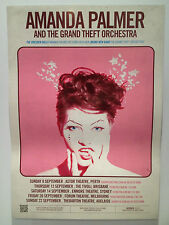 AMANDA PALMER & THE GRAND THEFT ORCHESTRA 2013 Australian Tour Poster A2 **NEW**