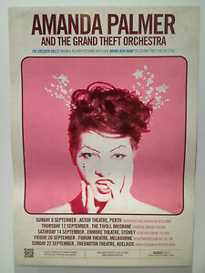 AMANDA PALMER & THE GRAND THEFT ORCHESTRA 2013 Australian Tour Poster A2 **NEW**