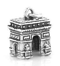 STERLING SILVER 925 3D L'ARC de TRIOMPHE PARIS CHARM