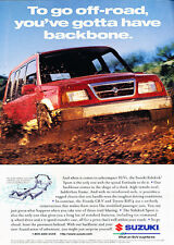 1998 Suzuki Sidekick - off-road - Classic Vintage Advertisement Ad H02