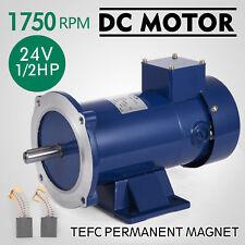 Dc Motor 1/2Hp 56C Frame 24V/1750Rpm Tefc Magnet Dominate Grease Generally