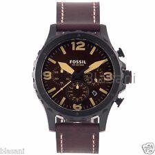 Fossil Original JR1502 Men's Nate Dark Brown Leather Watch 46mm