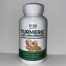 Wellness Garden Turmeric (95% Curcuminoids) 90 Capsules- New & Sealed Exp: 02/24