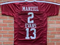 Mike Evans Johnny Manziel autograph signed jersey NCAA Texas A&M Aggies JSA PSA