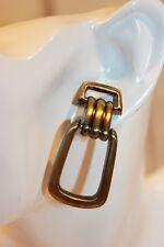 Ohrstecker NEU Ohrringe bronze Modeschmuck lang elegant Retro Vintage altgold
