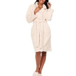NWT Flora Nikrooz Cozy Notch Collar Robe, Size S/M