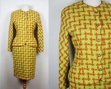 vintage 80's 90's EMANUEL UNGARO two piece skirt suit Tweed wool S M