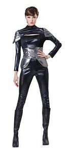 Spy Ladies Costume Adults Sexy Fancy Dress Womens Outfit **New