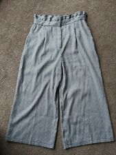 Pull And Bear Flared Culottes Pants Dog Tooth Eur L Large Ladies