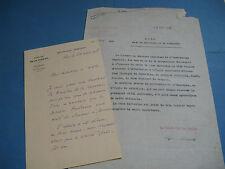 GENERAL VICTOR BOURRET Autographe Signé 1928 CORSE DE GAULLE 1940 à BERAUD