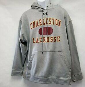 Under Armor Charleston lacrosse Hoodie Pullover Sweatshirt Grey size XL